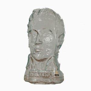 Deutscher Vintage Glas Elvis Presley Kopf von Ingrid Glas, 1970er