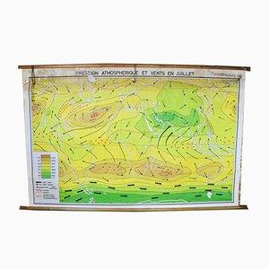 Atmosphärischer Druck Windkarte, 1960er