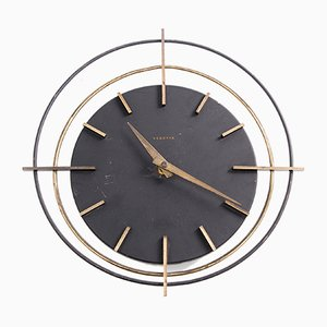 French Round Wall Clock from Vedette, 1950s