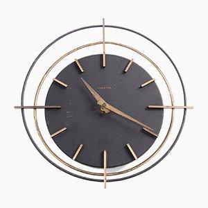 Horloge Murale Ronde de Vedette, France, 1950s
