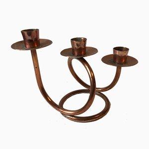 Modernistischer Kupfer Kerzenhalter aus Kupfer, 1970er