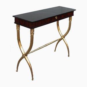 Tables Consoles en Acajou, Marbre & Laiton par Paolo Buffa, 1950s, Set de 2