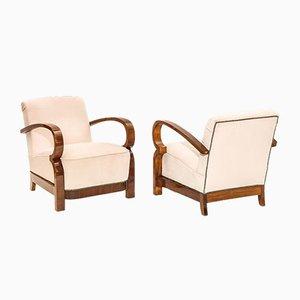 Französische Art Deco Sessel, 1930er, 2er Set