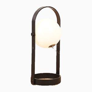 Schwarze Holz und Kunststoff Stehlampe von Temde, 1960er