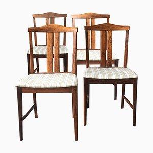 Schwedische Palisander Esszimmerstühle, 1960er, 4er Set