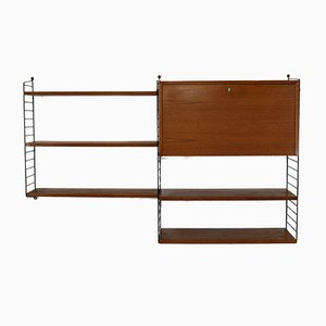 Teak Wall Unit by Kajsa & Nils ''Nisse'' Strinning for String, 1960s