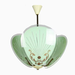 Vintage Italian Murano Glass Pendant Light, 1950s