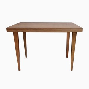 Mid-Century German Rectangular Walnut Side Table, 1960s