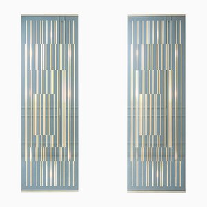 Beleuchtete Wandspiegel von Davico, 1970er, 2er Set