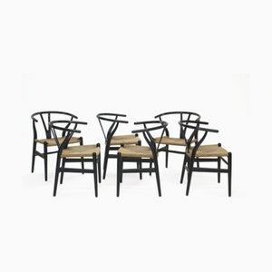 CH24 Dining Chairs by Hans Jorgen Wegner for Carl Hansen & Søn, 1960s, Set of 6