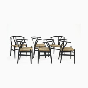 CH24 Dining Chairs by Hans Jorgen Wegner for Carl Hansen & Søn, 1960s, Set of 6
