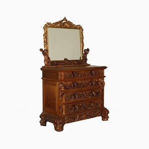Dresser & Mirror, 1920s, Set of 2
