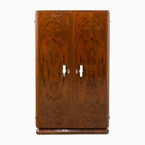 Small French Art Deco Wardrobe, 1920s