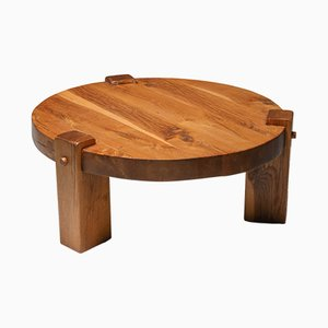 Modern Rustic Oak Coffee Table, 1960s
