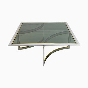 Mid-Century Modern Brass & Chrome Coffee Table, 1970s