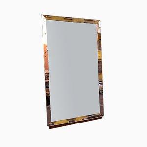 Beleuchteter Mid-Century Spiegel von Luigi Brusotti für Fontana Arte, 1950er