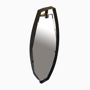 Mid-Century Spiegel aus Glas & Messing, 1950er