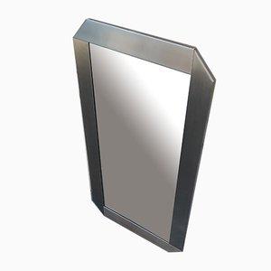 Vintage Spiegel aus Gebürstetem Aluminium von Gaetano Sciolari für Valenti Luce, 1970er