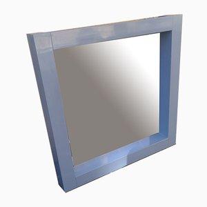 Blau Lackierter Holz Spiegel von Ambrogio Tresoldi und Alberto Salvati, 1980er