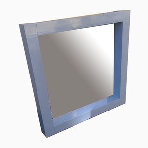 Blue Lacquered Wood Mirror by Ambrogio Tresoldi and Alberto Salvati, 1980s