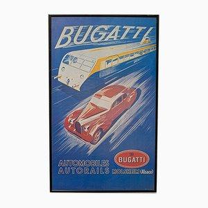 Bugatti Plakat von R. Géri, 1970er