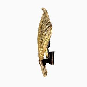 Kleine Mid-Century Blattgold Wandleuchte von Seguso