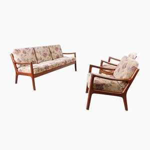 Senator Living Room Set by Ole Wanscher for France & Søn / France & Daverkosen, 1960s, Set of 3