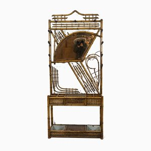 Antique Japanese Style Bamboo & Iron Cloakroom Rack by Perret Vibert