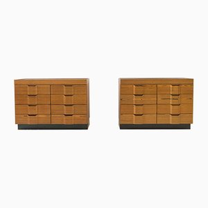 Laminated Wood Dressers, 1960s, Set of 2