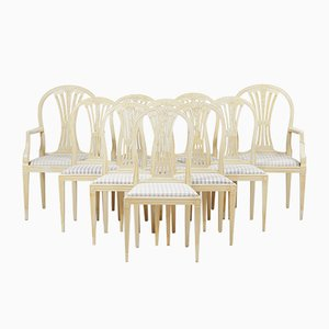 Antique Gustavian Dining Chairs, 1890s, Set of 12