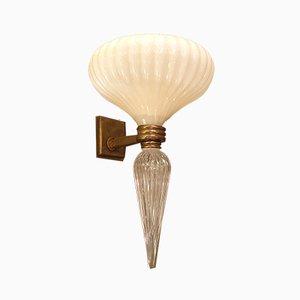 Italienische Mid-Century Murano Glas Wandlampen, 1960er, 2er Set