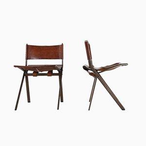 Belgische Esszimmerstühle von Emile Souply, 1960er, 2er Set