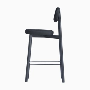 Residence 65 Black Bar Stool by Jean Couvreur