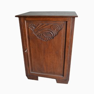 Antique Art Nouveau Oak Cabinet