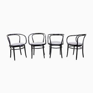 Modell 209 Esszimmerstühle von Michael Thonet für Thonet, 1990er, 4er Set