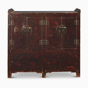 Antique Chinese Double-Painted Cabinet