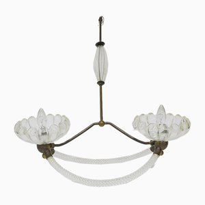 Vintage Art Deco Murano Glass Chandelier