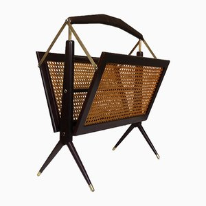 Mid-Century Magazine Rack by Cesare Lacca, 1950s