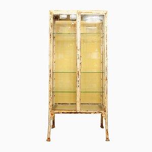 Vintage Rustic Glass and Metal Medicine Cabinet, 1950s