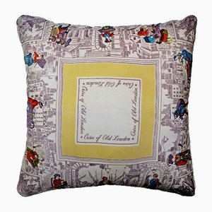 Vintage British Cries of London Cushion