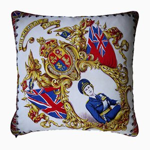 Vintage British Elizabeth II Cushion