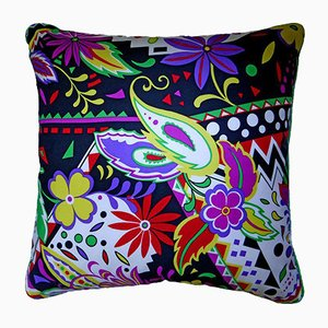 Vintage British Zinnia Fronde Cushion, 1980s