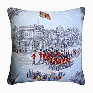 Vintage British Buckingham Palace Cushion