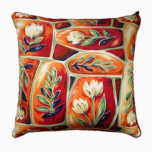 Vintage British Plant Life Cushion from Nichollette Yardley-Moore, 1960s