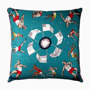 Vintage The 1958 Empire Games Cushion