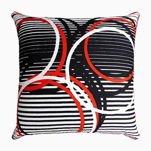 Vintage Olympic Circles Cushion from Jacqmar, 1980s