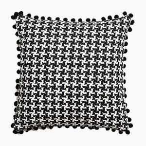 Vintage British Dogtooth Cushion, 1980s