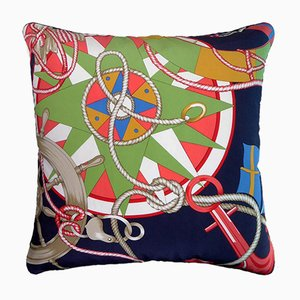 Vintage British Cunard White Star Cushion, 1940s
