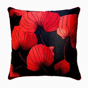 Vintage British Dragonfly Cushion, 1970s