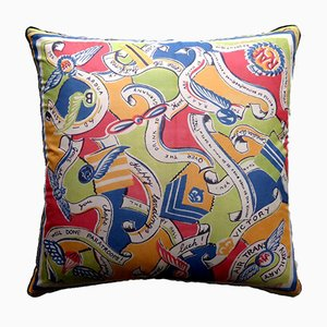 Vintage British Happy Landings Cushion